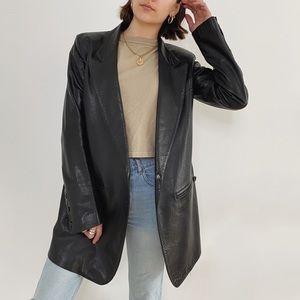 Ann Demeulemeester Black Asymmetric Leather Jacket